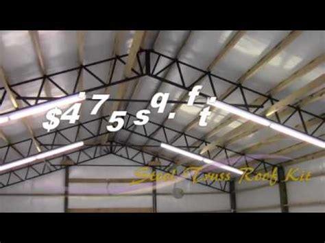 armour metals steel truss pole barn kit diy