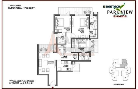 floor plan view bestech park view ananda floor plan floorplan in