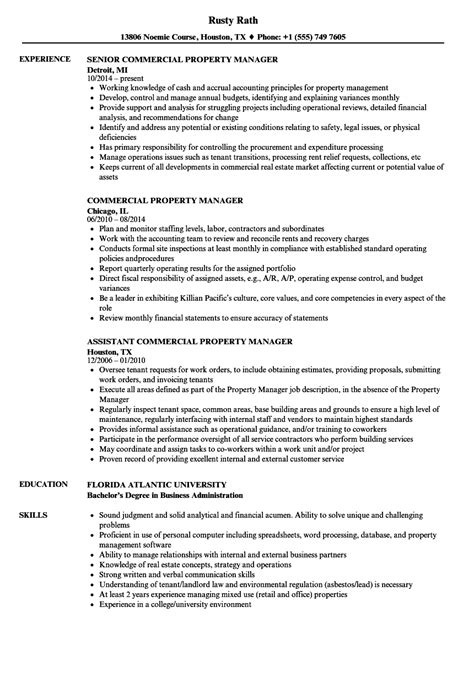 sample resume property manager topshoppingnetwork com