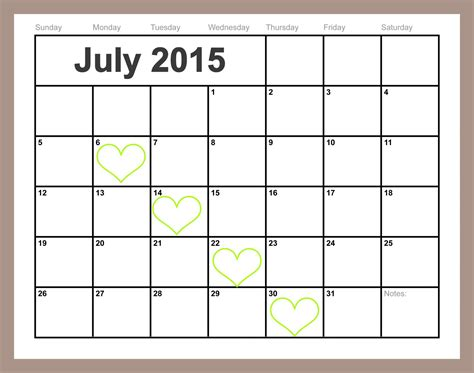 free printable monthly calendars july 2015 free printable july calendar easy print 2015 2016 2017