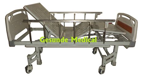 Kursi Besi Rumah Sakit ranjang rumah sakit 3 engkol abs bed 3 crank manual baru