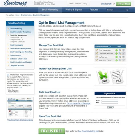 bench mark email benchmark email