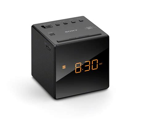 sony icf c1t fm am dual alarm clock radio with mirror finish black co uk tv
