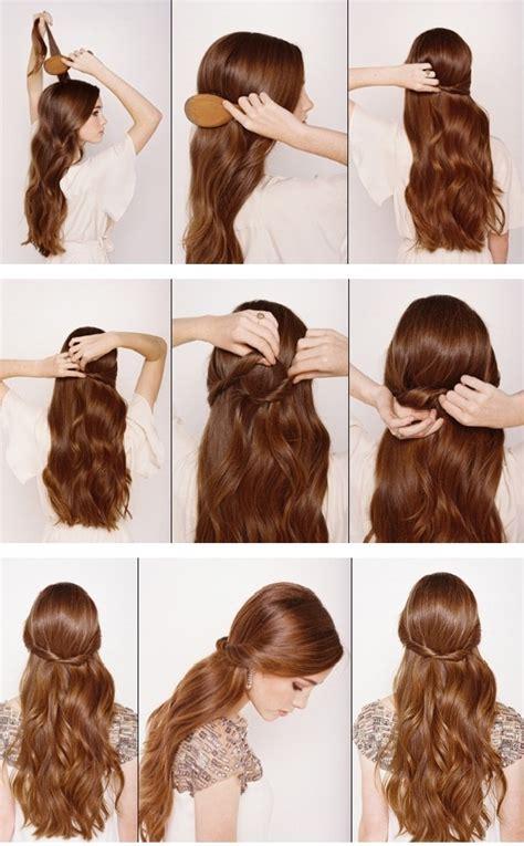half up half down hairstyles easy step by step 13 half up half down hair tutorials
