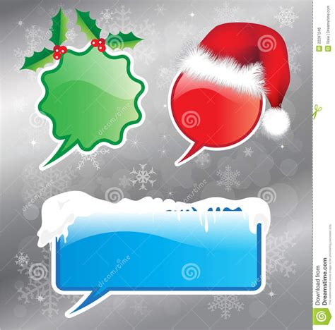 christmas speech bubbles royalty free stock image image