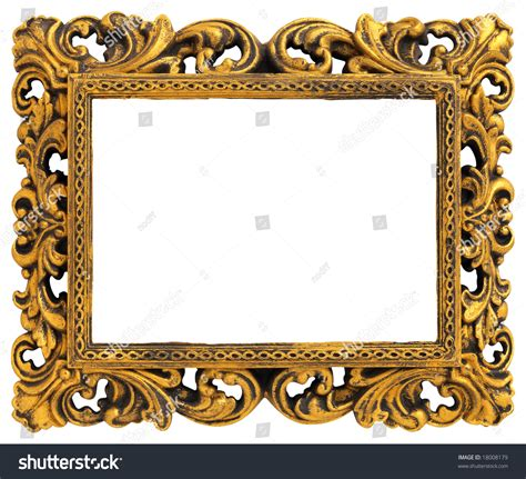 Decorative Picture Frames by Picture Gold Frame With A Decorative Pattern Stock Photo