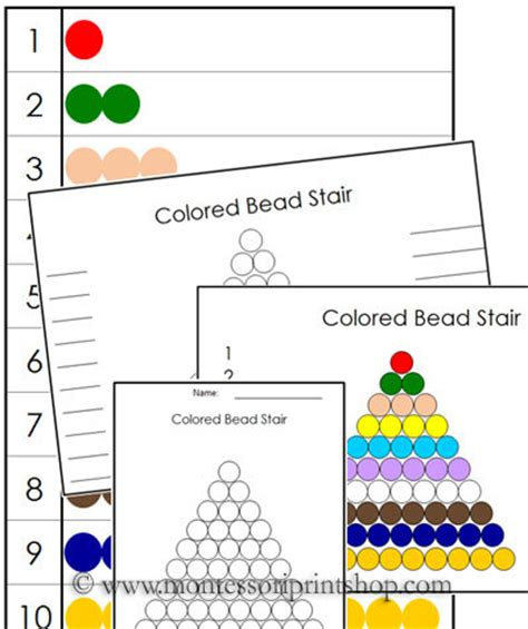 printable montessori pdf colored bead control chart printable montessori math