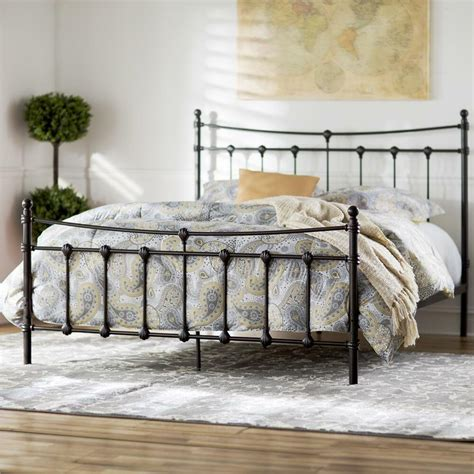 Wrought Iron Bed Frame by Wrought Iron Panel Bed Open Frame Headboard Footboard