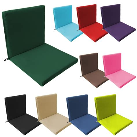 waterproof cushions for patio furniture two part outdoor waterproof seat chair pads cushions garden patio furniture seat ebay