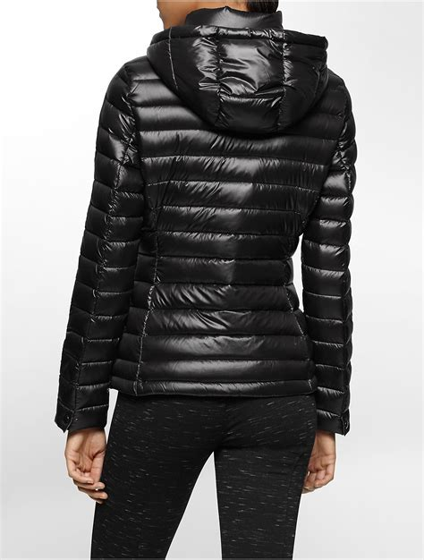light packable down jacket calvin klein white label lightweight packable hooded down
