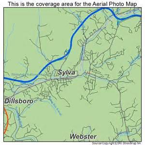 sylva carolina map aerial photography map of sylva nc carolina