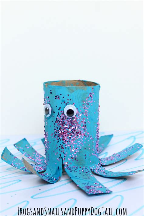 Paper Octopus Craft - octopus toilet paper roll craft fspdt