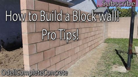 how to build a block wall diy 3