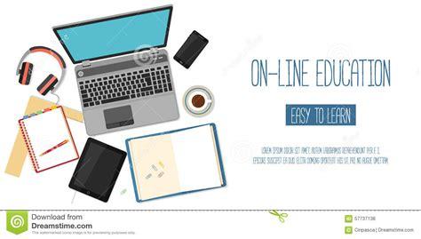 online design qualifications web banner concept for online education stock vector