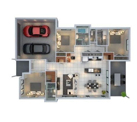 3 bedroom floor plans with garage 3 bedroom apartment house plans