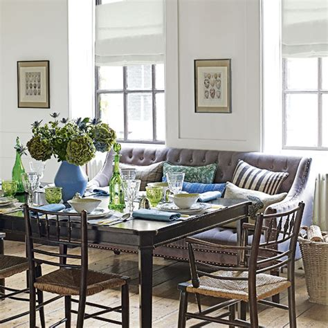 Dining Room Loveseat by White Dining Room With Sofa Decorating Ideal Home
