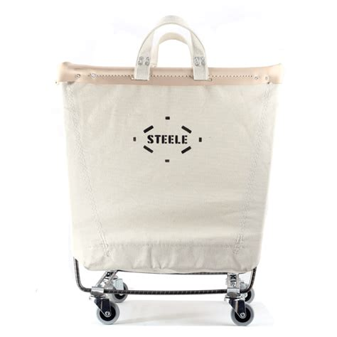 industrial stehle laundry cart contemporary masculine