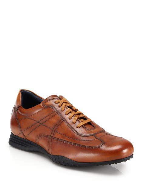 oxford sneakers mens lyst cole haan granada leather sport oxford sneakers in