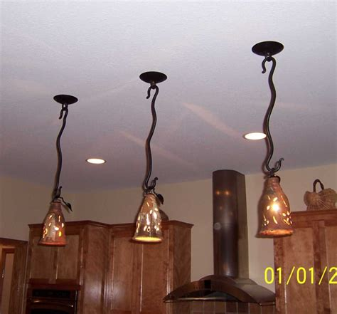 Drop Lights For Kitchen Island Silver Creek Pottery Kitchen Drop Lights