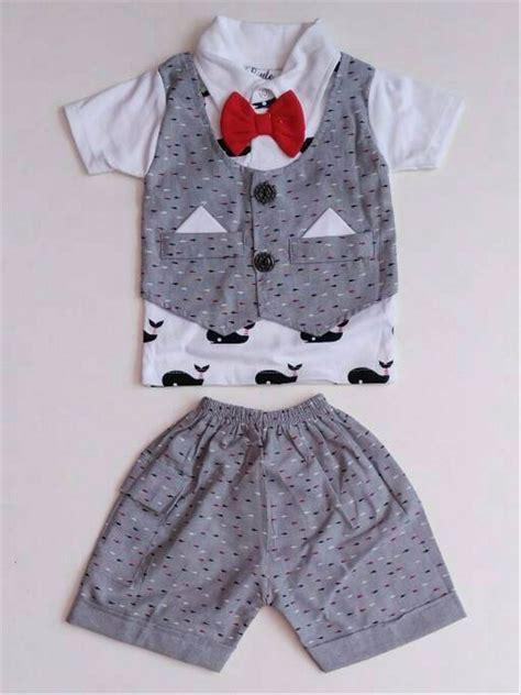 Rompi Cowok Set jual baju setelan pesta anak bayi laki cowok rompi ikan