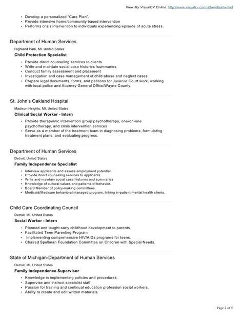 Crisis Intervention Worker Sle Resume by Albendia Sherrod Visual Cv Resume 1