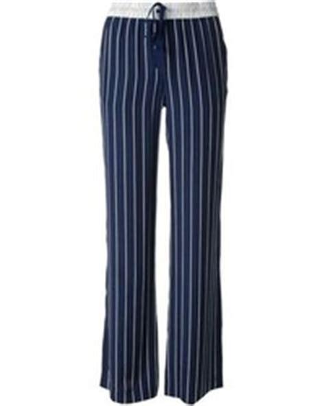 Alba Pajamas Blue navy and white vertical striped pajama for