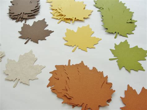 Paper Leaves - autumn fall leaf leaves paper cut outs cutouts by cutoutthefun