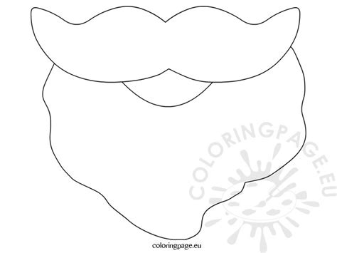Santa Beard Coloring Page free coloring pages
