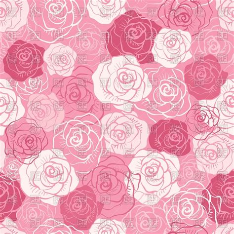 pink rose pattern clipart seamless pink pattern of stylized buds of roses royalty