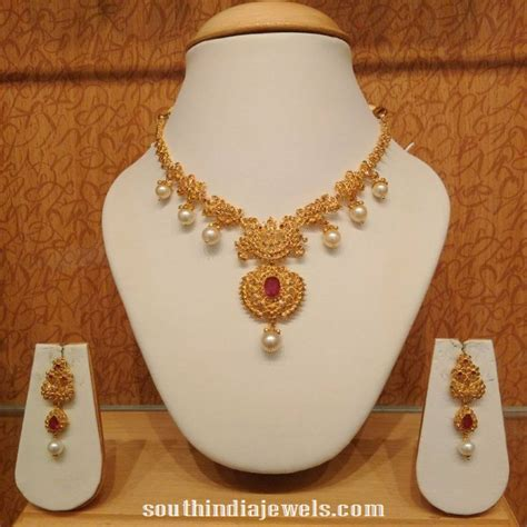 light weight gold necklace designs latest uncut jewellery designs