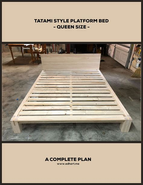 tatami inspired platform bed plan queen size  lesson