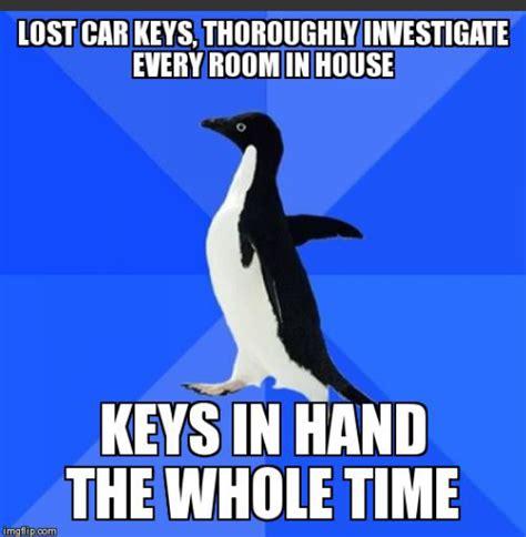 Lost Keys Meme - image tagged in memes funny socially awkward penguin imgflip
