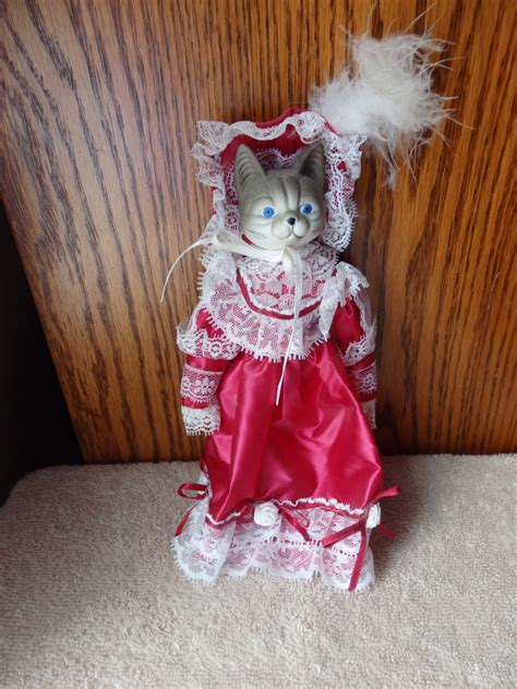 8 inch porcelain doll porcelain doll collectible vintage cat doll unique 8 inches in