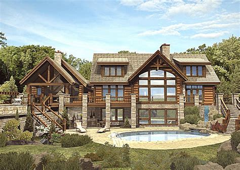 luxury log home floor plans mywoodhome