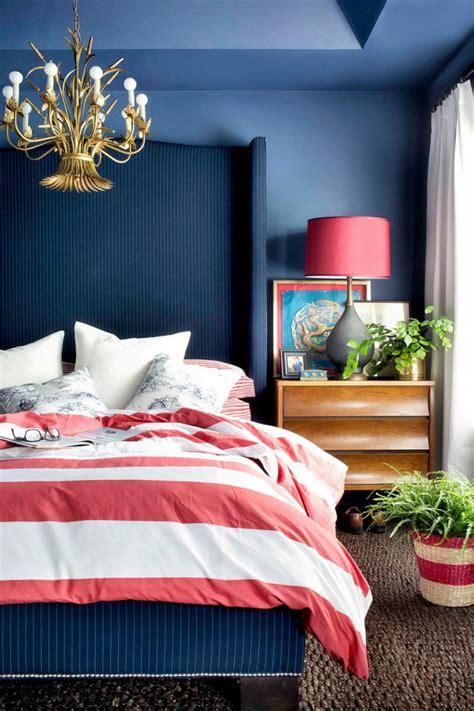 navy blaue und weiße schlafzimmer bettw 228 sche design blaue