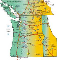 ski resorts oregon map map washington and oregon