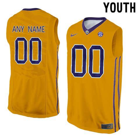 customized jersey ncaa basketball new lsu tigers yellow men s customized college basketball
