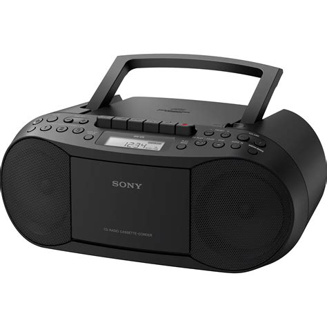 cd radio cassette player sony cfd s70 portable cd cassette boombox cfds70blk b h photo
