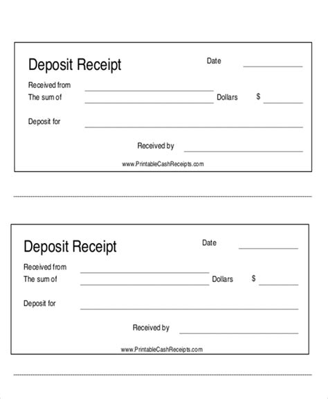 7 Payment Receipt Forms Sle Templates Sheets Receipt Template