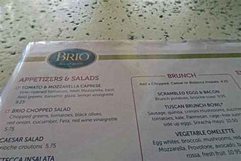 brios lunch menu menu picture of brio tuscan grille west palm beach
