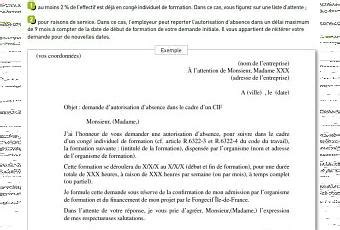 Demande De Permission Lettre Lettre D Autorisation D Absence Pour Formation Continue Avec Le Cif 4 Mois Avant Le D 233 But