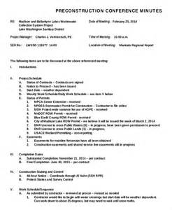 construction meeting minutes template construction minutes template 9 free word pdf
