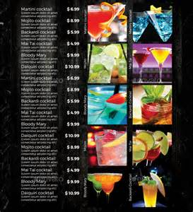 cocktail menu templates sle drink menu template 20 documents in psd