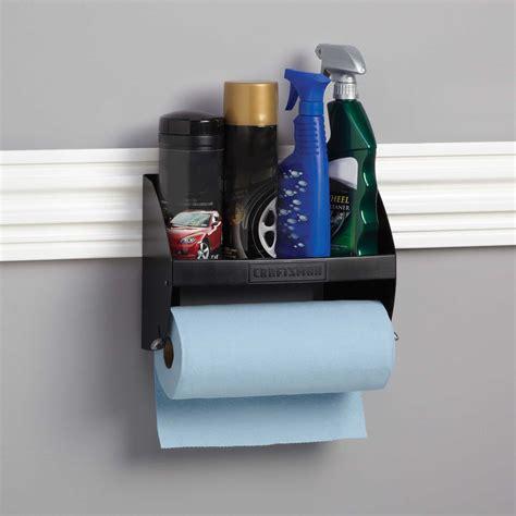 Garage Paper Towel Holder craftsman hooktite paper towel holder for versatrack