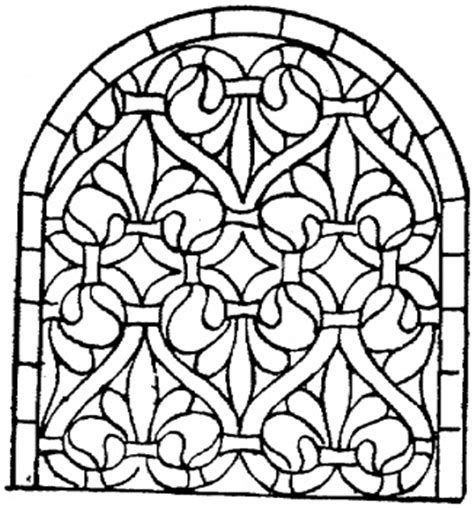 thanksgiving mosaic coloring page stained glass pattern medieval theme pinterest