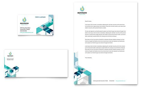 business letterhead and business cards gas company business card letterhead template design