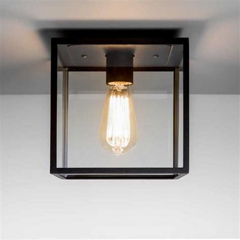 Outdoor Light Boxes Astro Lighting Astro Box Outdoor Porch Light In Black Finish Whit Glass Panels 7389 Astro