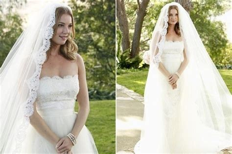 revenge emily vanc wedding revenge memorable tv wedding dresses stylebistro