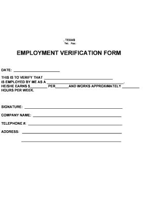 Verification Of Employment Letter For Court Employment Verification Form Fill Printable Fillable Blank Pdffiller