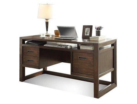home office computer desks with two left storage drawers
